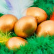 Royalty-Free Stock Photo: Easter golden eggs