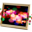 Photo frame with abstract light — Stock Photo