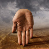Surreal hand — Stock Photo