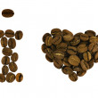 Royalty-Free Stock Photo: I love coffee from beans