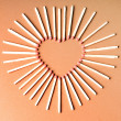 Stock Photo: Match heart shape