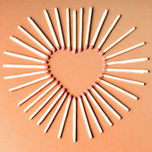 Match heart shape — Stock Photo