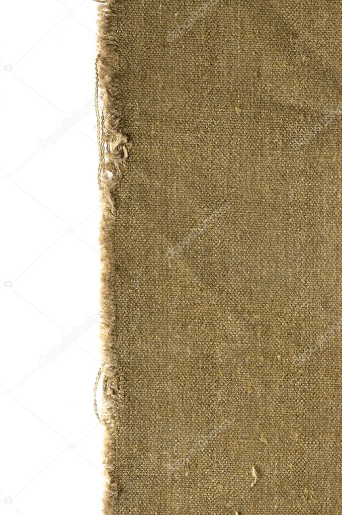 Old canvas edge fabric texture for old fashioned background — Stock Photo #2377421