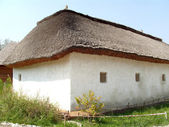 Old house with a thatched roof — Foto Stock