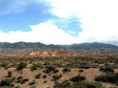 Desert and mountains — Stock Photo