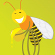 Royalty-Free Stock Imagem Vetorial: Merry bee