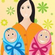Royalty-Free Stock Vector Image: Mother with children
