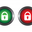 Buttons with lock — Stock Vector #1565056