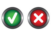 Two system buttons — Stock Vector