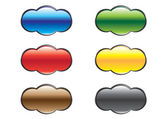 Rounded varicoloured buttons — Stock Vector