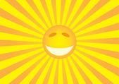 Güneş smiley — Stok Vektör