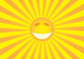 Sun smiley — Vector de stock