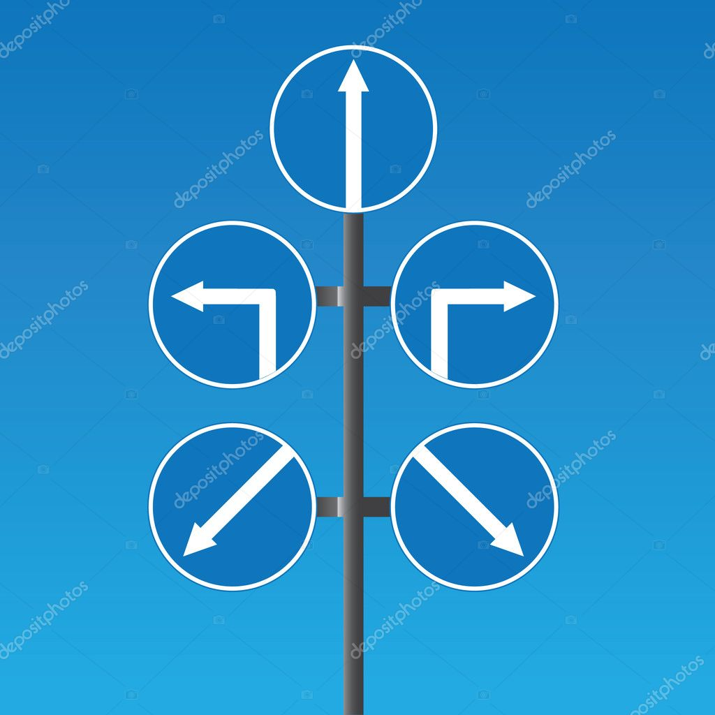 Road signs and pointers — Stock Vector #1604314