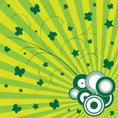 Kolorowe tło zielony — Wektor stockowy
