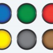 Six colored buttons — Stock Vector #1671294