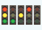 Different traffic light signals — Stock Vector