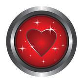 Button heart — Stock Vector