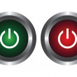 Two buttons with symbol power — Stock Vector #1955358