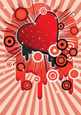 Abstract image with a heart — Stock Vector