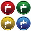 Royalty-Free Stock Vector: Plastic buttons with a water tap
