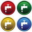 Royalty-Free Stock Vectorielle: Plastic buttons with a water tap