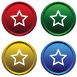 Plastic buttons with a stars — Stock Vector