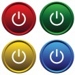 Four buttons with symbol power — Stock Vector #2190149