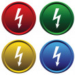 Plastic buttons with the high voltage — Stock Vector