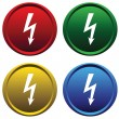Plastic buttons with the high voltage - Stock Vector