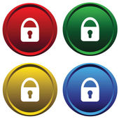 Plastic buttons with a lock — Stock Vector