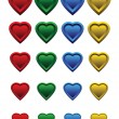 A set of colorful hearts — Stock Vector