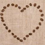 Love coffee. Heart and coffee — Stock Photo
