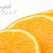 Sliced orange on a white background — Stock Photo