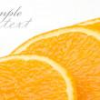 Sliced orange on a white background — Stock Photo #1234418