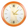 The clock on a white background — Stock Photo