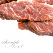 Stock Photo: Piece of fresh meat on white background