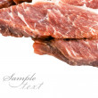 Piece of fresh meat on white background — Stock Photo