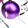 Royalty-Free Stock Photo: Purple Christmas ball