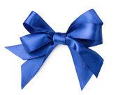 Beautiful blue bow on white background — Stock Photo
