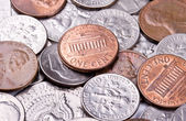 American coin background — Stock Photo