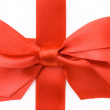 Beautiful red bow on white background — Stock Photo #1357053