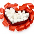 Sugar and heart — Stock Photo