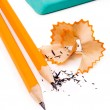 Pencil on white background — Stock Photo #1814406