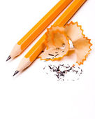 Pencil on white background — Stock Photo