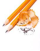 Pencil on white background — Stock Photo