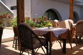 Greek island taverna restaurant — Stock Photo