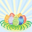 Royalty-Free Stock Vector Image: Eggs in grass