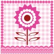 Royalty-Free Stock Imagen vectorial: Card with flower