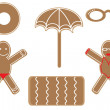 Royalty-Free Stock Vector Image: Gingerbreads under the sun