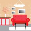 Royalty-Free Stock Vector Image: Interior in red colors